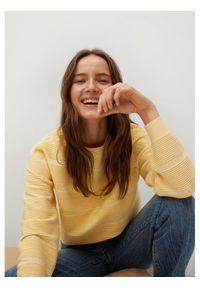 mango - Mango Sweter Redding 87044016 Żółty Regular Fit. Kolor: żółty