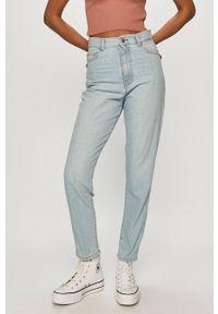 Niebieskie jeansy Dr. Denim z podwyższonym stanem