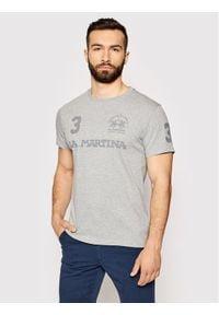 La Martina T-Shirt RMR309 JS206 Szary Regular Fit. Kolor: szary