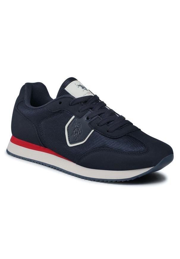 U.S. Polo Assn - Sneakersy U.S. POLO ASSN. - Nobil NOBIL4116S1/TH1 Dkbl/Red. Okazja: na co dzień. Kolor: niebieski. Materiał: skóra, skóra ekologiczna, materiał. Szerokość cholewki: normalna. Styl: sportowy, casual