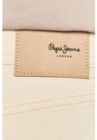 Kremowe szorty Pepe Jeans gładkie, casualowe