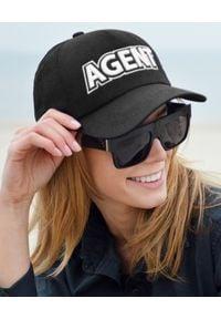 MISS PARIS - Czapka Agent - EDYCJA LIMITOWANA. Kolor: czarny. Materiał: bawełna. Wzór: napisy, aplikacja, haft. Styl: elegancki