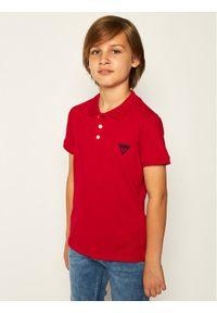 Czerwony t-shirt polo Guess polo
