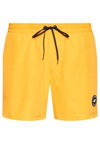 4f - 4F Szorty plażowe SKMT001 Pomarańczowy Regular Fit. Okazja: na plażę. Kolor: pomarańczowy