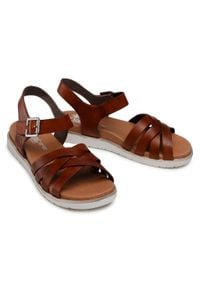 Rieker - Sandały RIEKER - V5063-24 Braun. Kolor: brązowy. Materiał: skóra. Sezon: lato