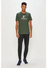 Zielony t-shirt Nike z nadrukiem, na co dzień, casualowy