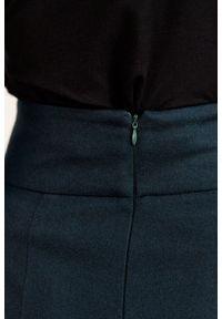 Marie Zélie - Spódnica Nela wełna butelkowa zieleń. Stan: podwyższony. Materiał: wełna. Styl: elegancki