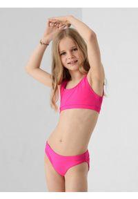 4f - Kostium kąpielowy dziewczęcy (122-164). Kolor: różowy. Materiał: materiał