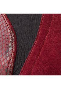 Czerwone botki Baldaccini z cholewką, na średnim obcasie, na obcasie