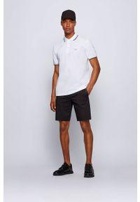 BOSS - Boss - Polo Boss Athleisure. Typ kołnierza: polo. Kolor: biały. Długość: krótkie