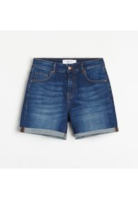 Reserved - Jeansowe szorty - Granatowy. Kolor: niebieski. Materiał: jeans