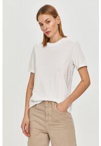 Biała bluzka Pieces na co dzień, casualowa