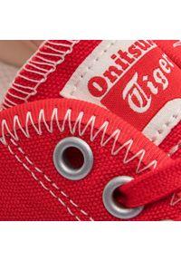 Czerwone buty sportowe Onitsuka Tiger z cholewką, do koszykówki