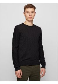 BOSS - Boss Sweter Amiox 50443391 Czarny Slim Fit. Kolor: czarny