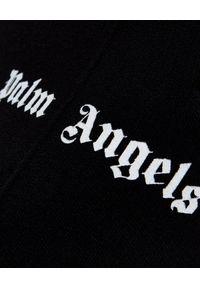 PALM ANGELS - Czarne spodnie z lampasem. Kolor: czarny. Materiał: materiał. Wzór: aplikacja