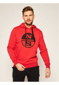 North Sails Bluza Graphic 691543 Czerwony Regular Fit. Kolor: czerwony