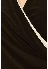 Czarna sukienka Lauren Ralph Lauren dopasowana, mini, na ramiączkach