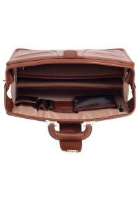 Teczka na laptopa MCKLEIN Harrison 17 cali Brązowy. Kolor: brązowy. Materiał: skóra, materiał. Styl: klasyczny, elegancki #7