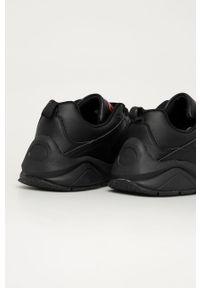 Czarne sneakersy Big-Star z cholewką, z okrągłym noskiem