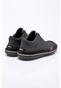 Szare sneakersy Camper z cholewką, na sznurówki, z okrągłym noskiem