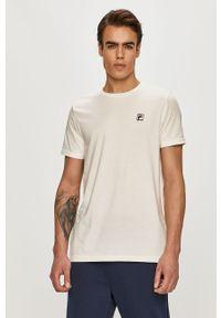 Biały t-shirt Fila gładki, casualowy, na co dzień