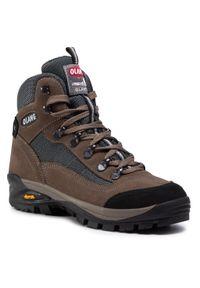 Brązowe buty trekkingowe Olang z cholewką, trekkingowe