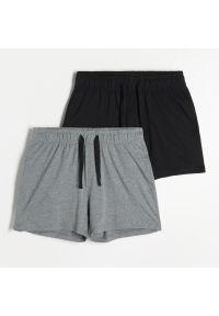 Reserved - Szorty od piżamy 2 pack - Czarny. Kolor: czarny