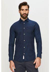 Niebieska koszula Premium by Jack&Jones z klasycznym kołnierzykiem, długa