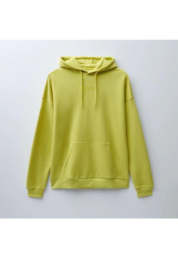 House - Bluza z kapturem i nadrukiem - Żółty. Typ kołnierza: kaptur. Kolor: żółty. Wzór: nadruk