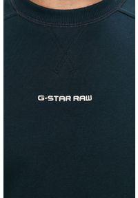 G-Star RAW - G-Star Raw - Bluza. Okazja: na co dzień. Kolor: niebieski. Materiał: dzianina. Styl: casual