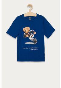 Niebieski t-shirt Polo Ralph Lauren na co dzień, polo