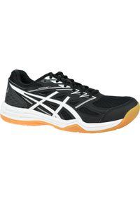 Czarne buty do siatkówki Asics w kolorowe wzory, z cholewką