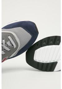 Szare sneakersy New Balance z okrągłym noskiem, na sznurówki