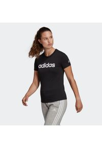 Adidas - Koszulka krótki rękaw fitness Linear. Materiał: bawełna. Długość rękawa: krótki rękaw. Długość: krótkie. Sport: fitness