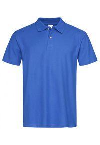 Niebieski t-shirt Stedman z krótkim rękawem, krótki