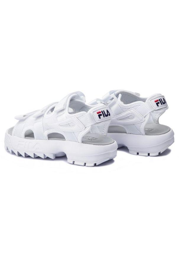 Białe sandały Fila