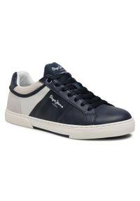 Pepe Jeans - Sneakersy PEPE JEANS - Rodney Sport PMS30709 Navy 595. Kolor: niebieski. Materiał: materiał, skóra ekologiczna, zamsz. Szerokość cholewki: normalna. Styl: sportowy