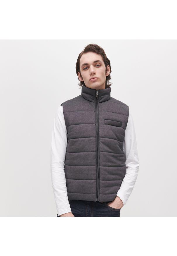 Szara bluza Reserved ze stójką