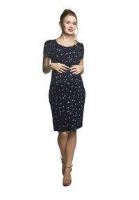 e-margeritka - Sukienka ciążowa elegancka do karmienia na lato - m. Okazja: na co dzień. Kolekcja: moda ciążowa. Materiał: wiskoza, dzianina, materiał, elastan. Sezon: lato. Styl: elegancki