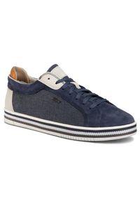 Geox Sneakersy U Eolo A U028RA 022NB C4005 Granatowy. Kolor: niebieski