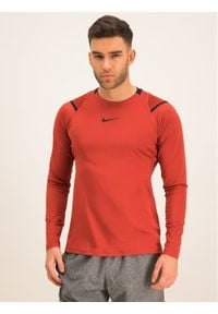 Nike Koszulka techniczna AeroAdapt BV5508 Pomarańczowy Slim Fit. Kolor: pomarańczowy