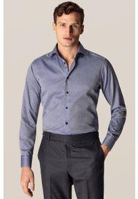 Niebieska koszula Eton długa, elegancka
