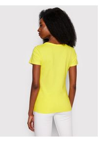 Calvin Klein Jeans T-Shirt Monogram J20J217166 Żółty Slim Fit. Kolor: żółty