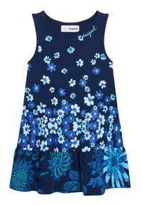 Niebieska sukienka Desigual prosta, na co dzień