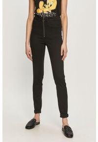 Czarne jeansy Noisy may gładkie
