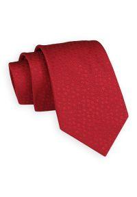 Czerwony Klasyczny Elegancki Krawat -Angelo di Monti- 7 cm, Męski, w Tłoczony Wzór w Kwiatki. Kolor: czerwony. Wzór: kwiaty. Styl: klasyczny, elegancki