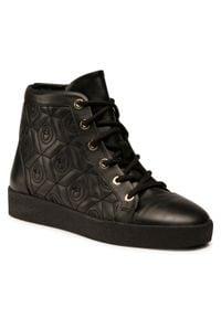 Baldowski - Sneakersy BALDOWSKI - D03356-0046-002 Skóra Czarna. Okazja: na co dzień. Kolor: czarny. Materiał: skóra. Szerokość cholewki: normalna. Styl: casual