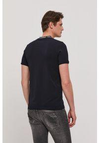 Karl Lagerfeld - T-shirt. Okazja: na co dzień. Kolor: niebieski. Wzór: nadruk. Styl: casual