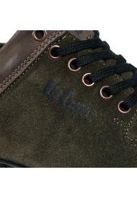Zielone sneakersy Lee Cooper z cholewką
