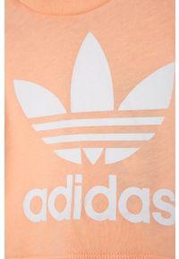 Różowa bluzka z krótkim rękawem adidas Originals na co dzień, casualowa